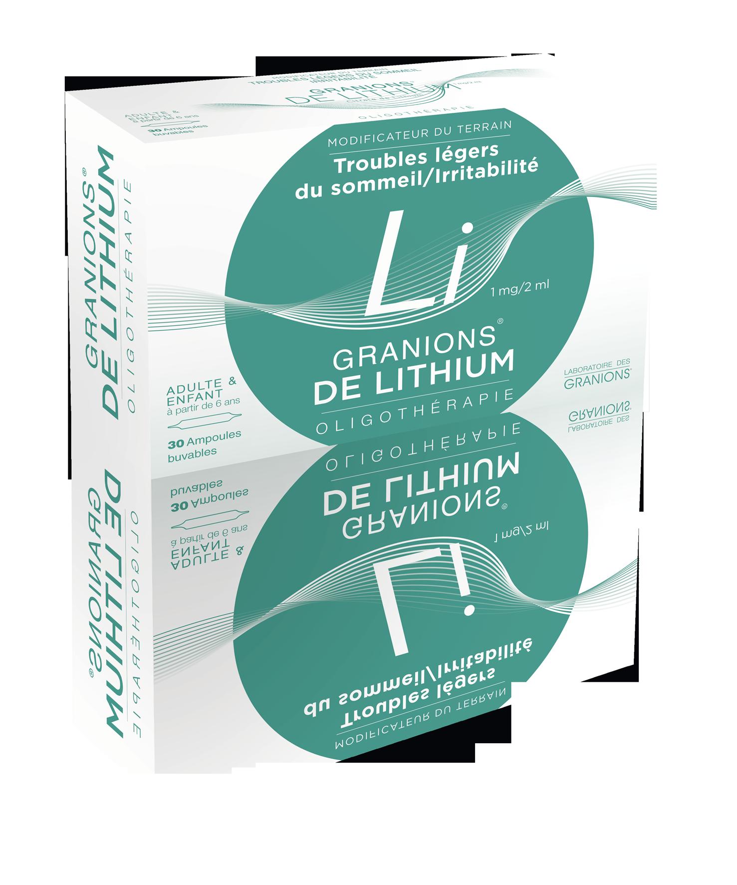 Image GRANIONS DE LITHIUM 1 mg/2 ml S buv en ampoule 30Amp/2ml