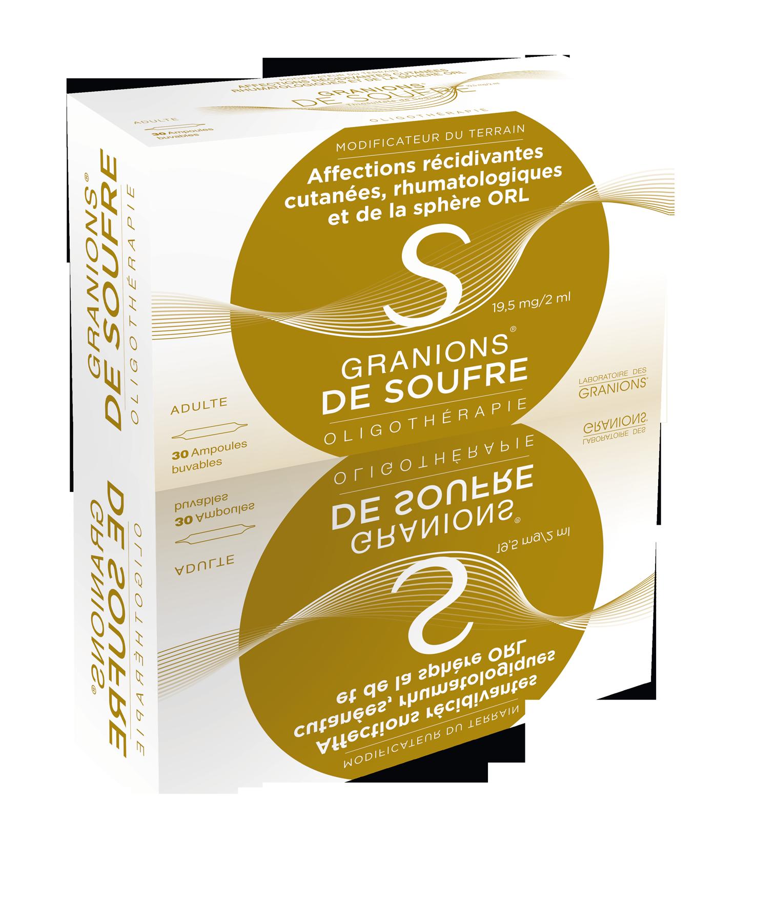 Image GRANIONS DE SOUFRE 19,5 mg/2 ml S buv 30Amp/2ml