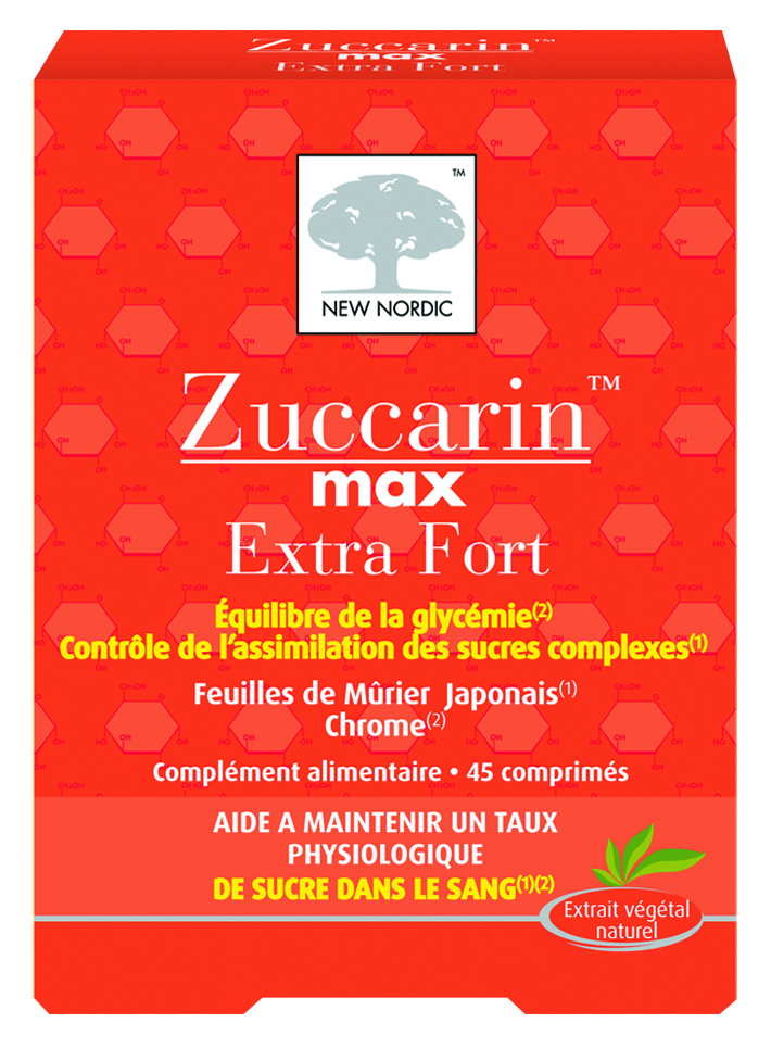 Image ZUCCARIN MAX EXTRA FORT Cpr taux de sucre dans le sang B/45