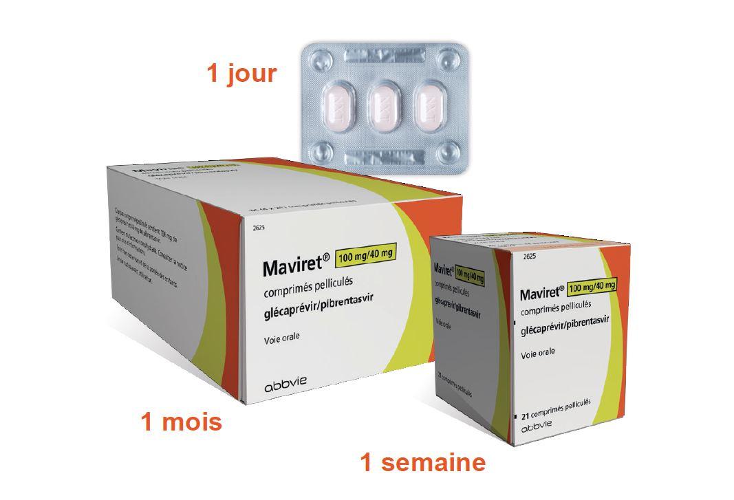 Image MAVIRET 100 mg/40 mg Cpr pell Plq/84 (4x21)