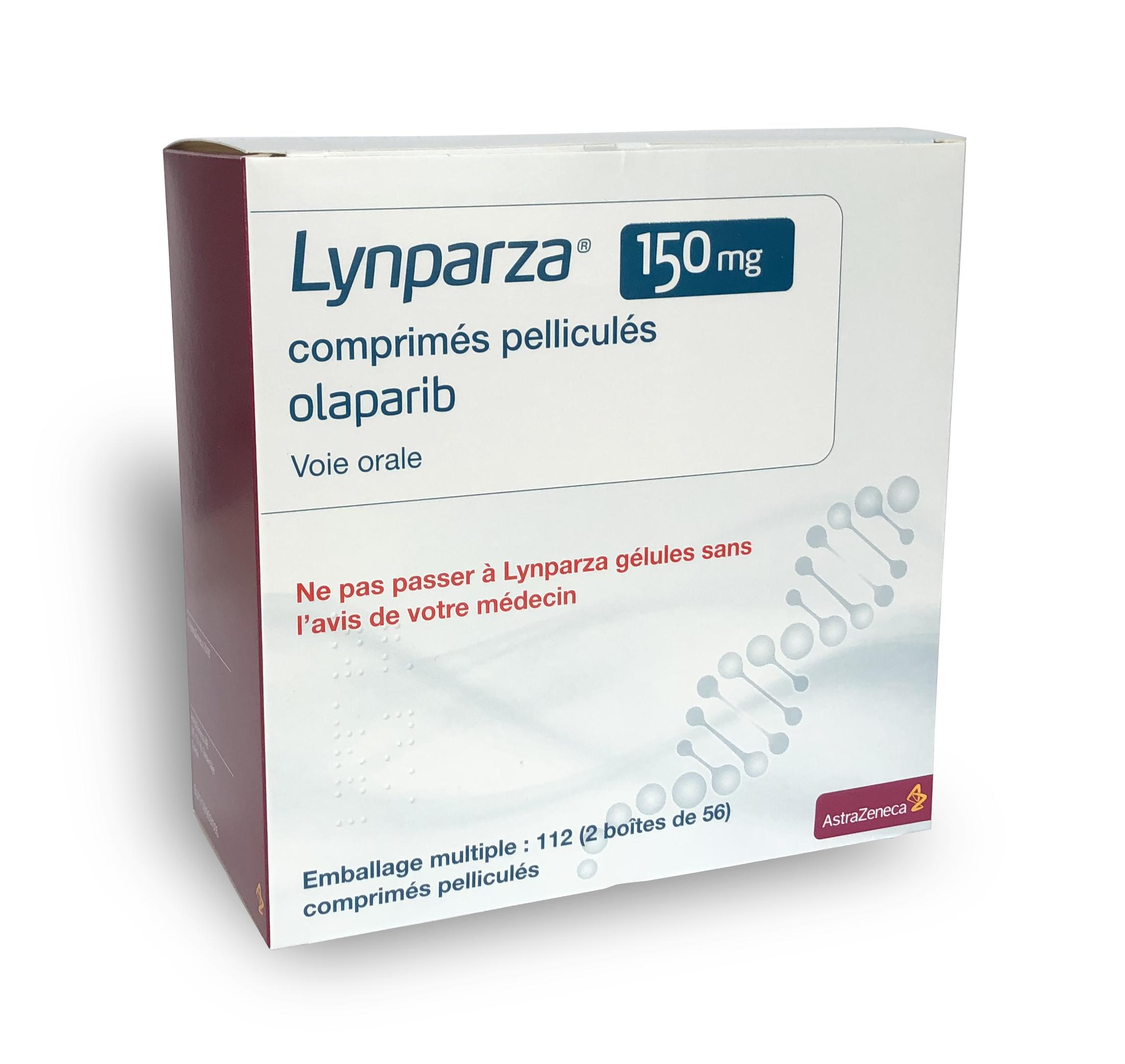 Image LYNPARZA 150 mg Cpr pell Plq/112 (2x56)