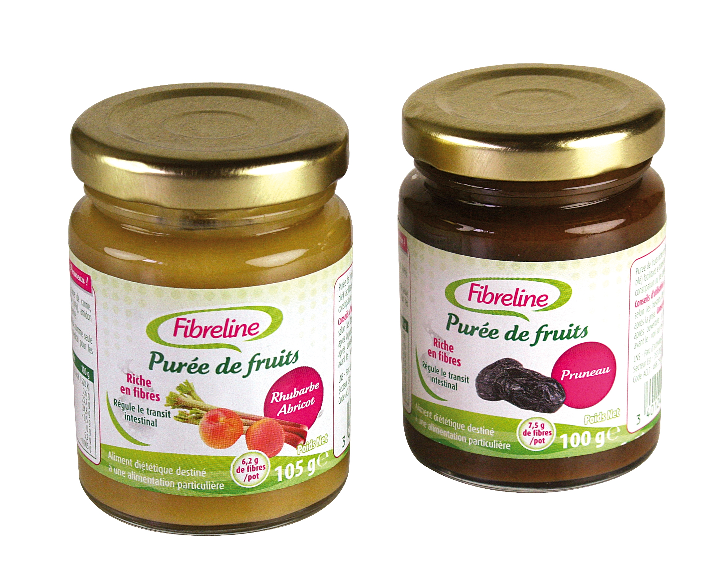 Image FIBRELINE Purée de fruits pruneau Pot/100g