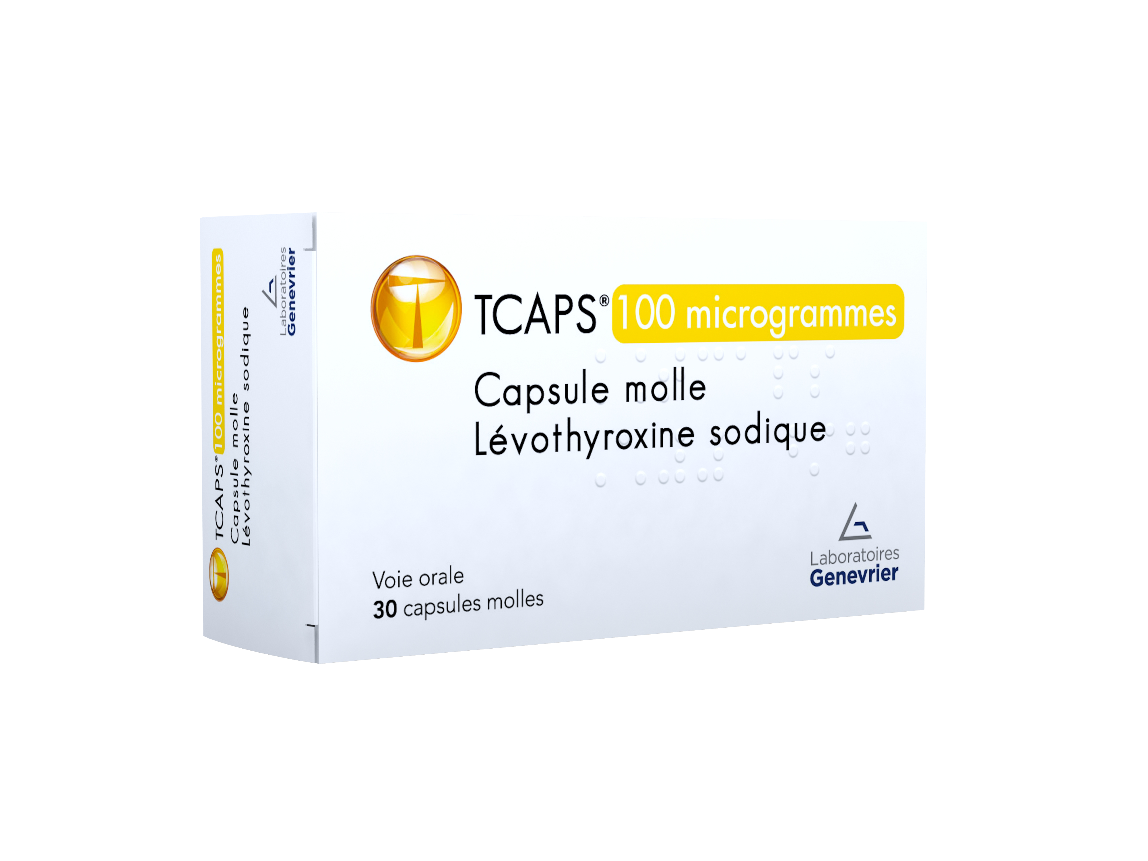 Image TCAPS 100 µg Caps molle Plq/30