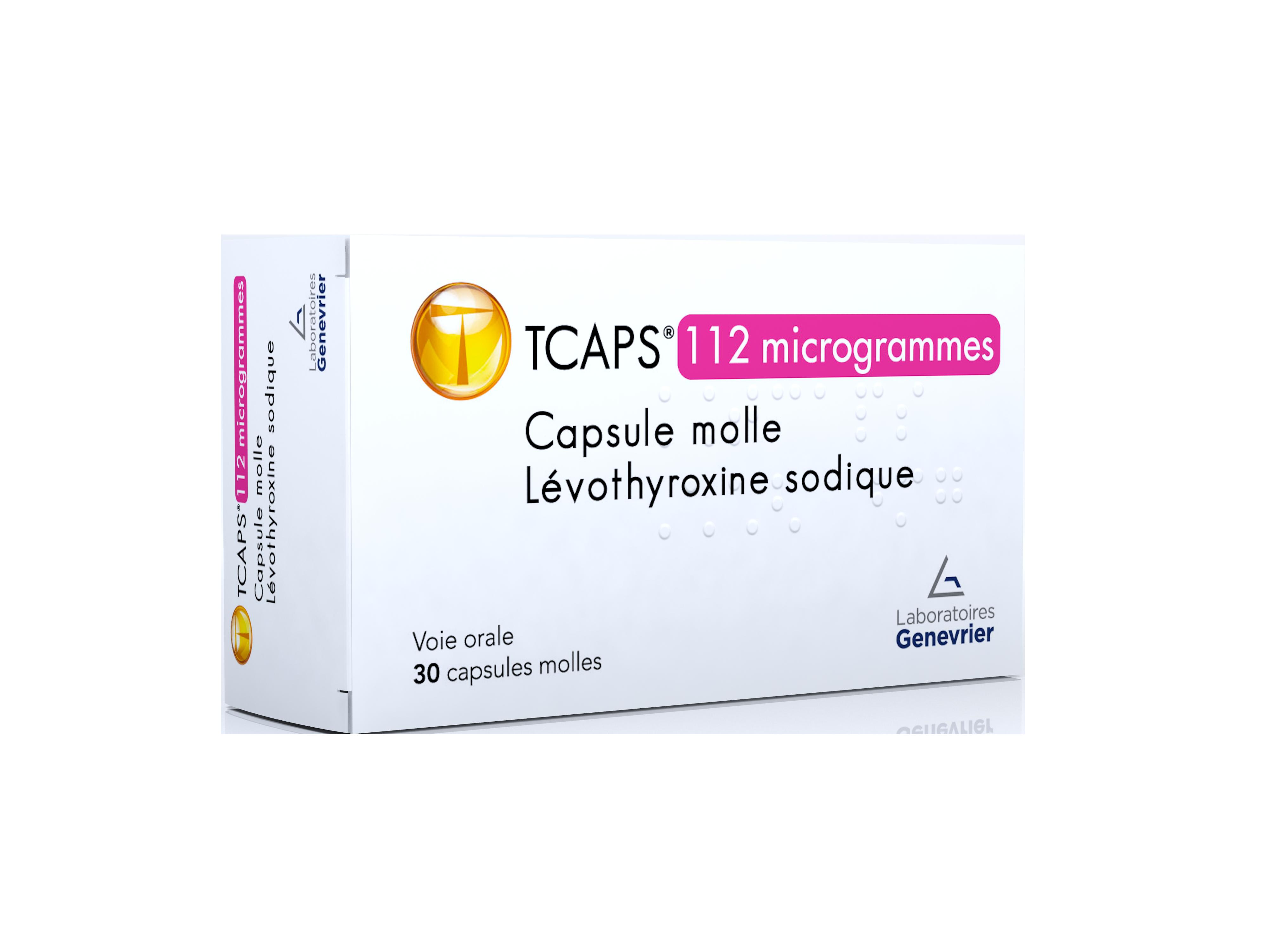 Image TCAPS 112 µg Caps molle Plq/30