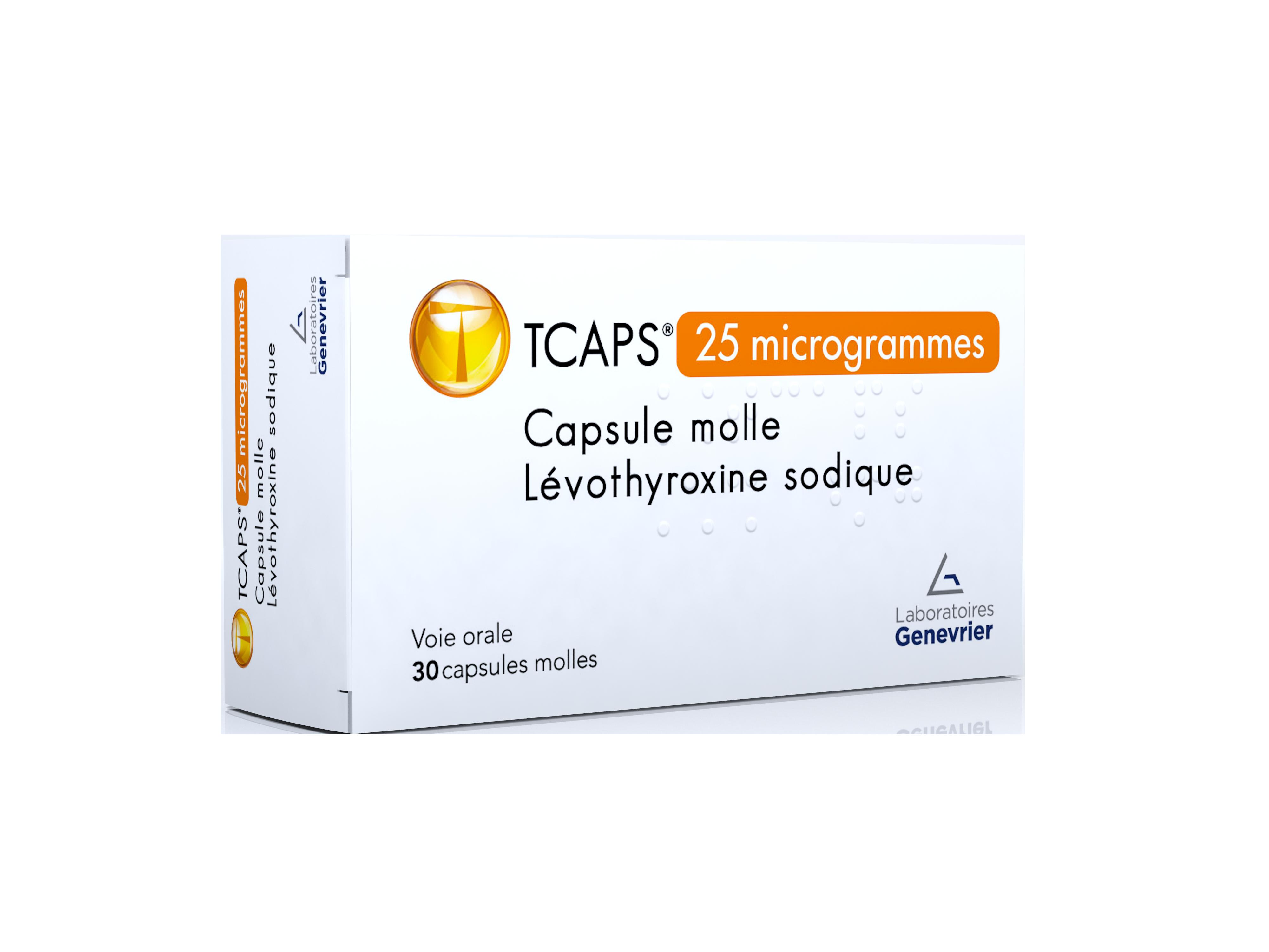 Image TCAPS 25 µg Caps molle Plq/30