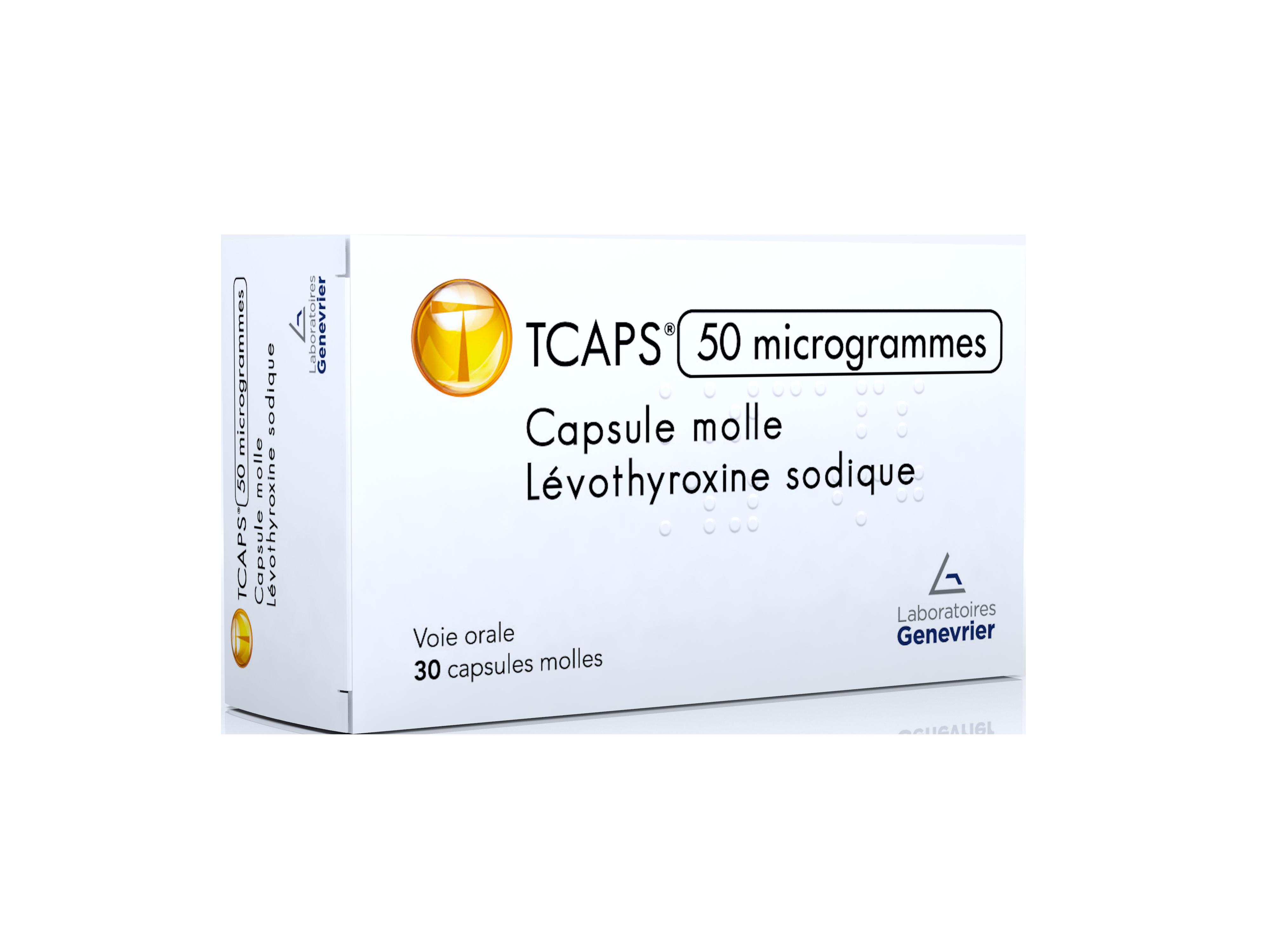 Image TCAPS 50 µg Caps molle Plq/30