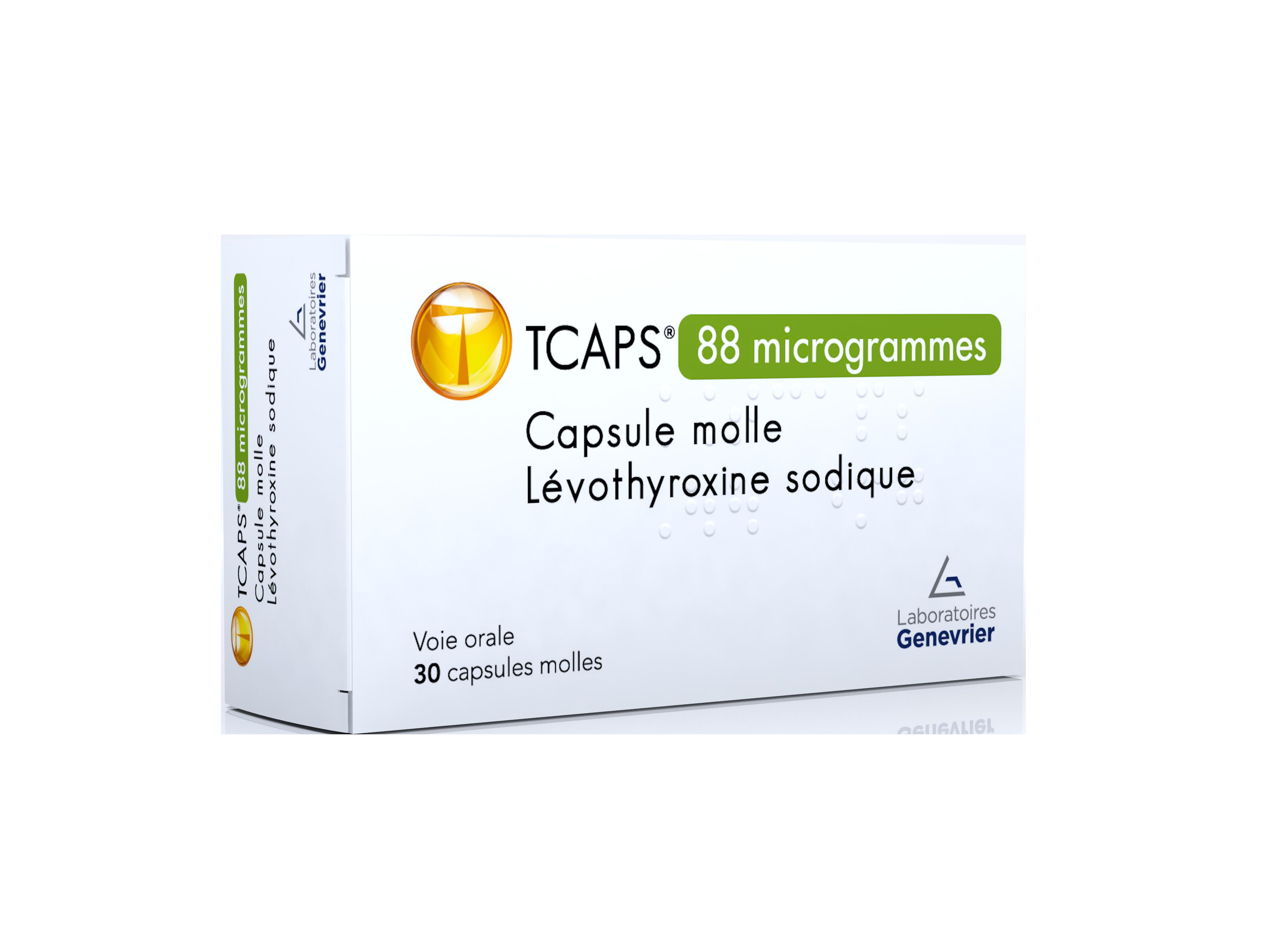 Image TCAPS 88 µg Caps molle Plq/30